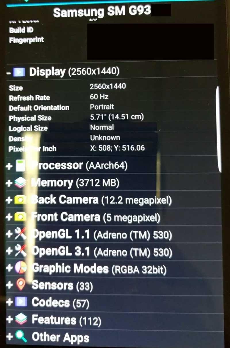 Samsung Galaxy S7 specificaties