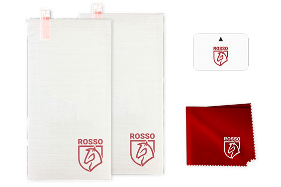 Rosso Ultra Clear Screen Protector in de verpakking
