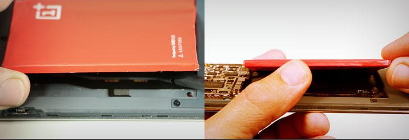 OnePlus One batterij losmaken