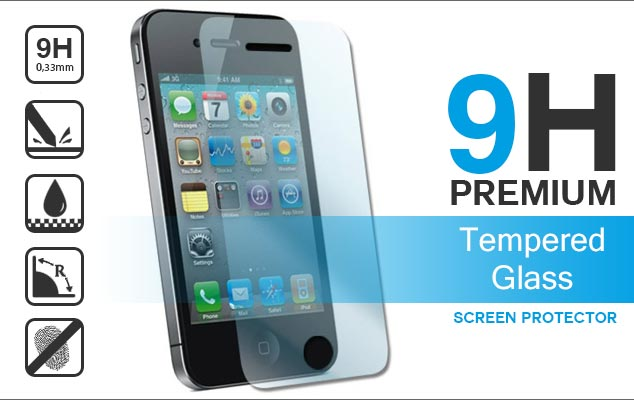 apple iphone 4 en 4s premium tempered glass