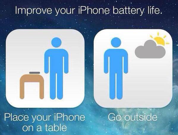 iphone batterij buiten