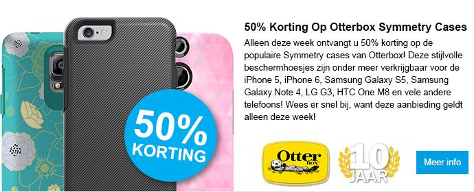 50% Korting op Otterbox Symmetry cases!