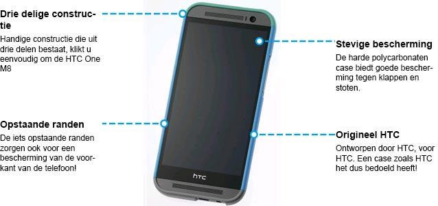 HTC One M8 Double Dip HC C940 Case Grijs Specs