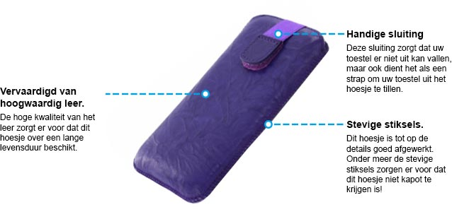 Mobiparts pouch specs paars 3xl